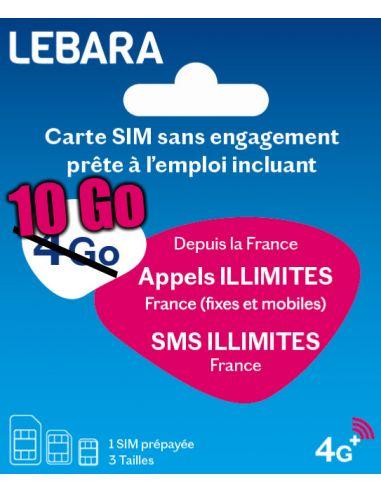 Carte SIM prépayée Lebara Mobile...