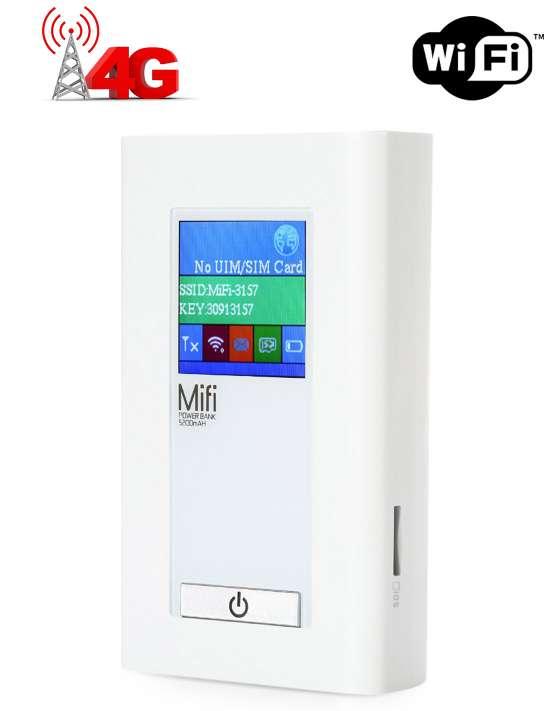 Modem 4G avec batterie intégrée 5200 mAh