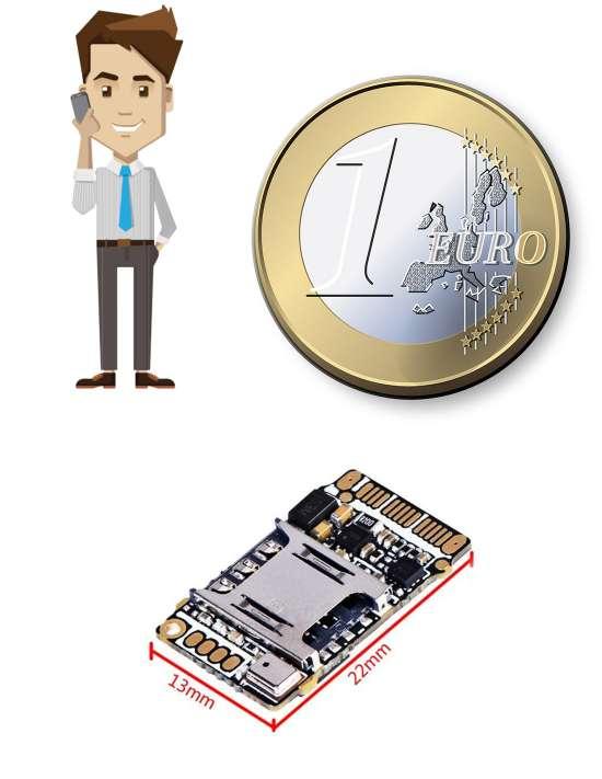 Micro espion GSM miniature avec...