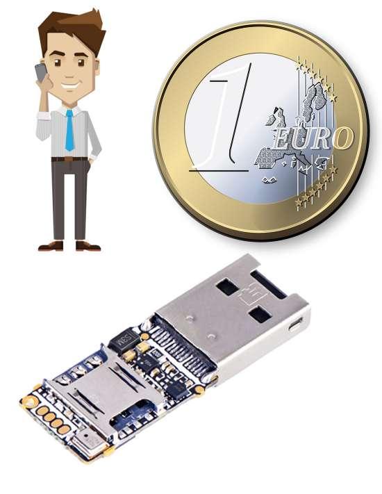 Micro espion GSM et enregistreur audio