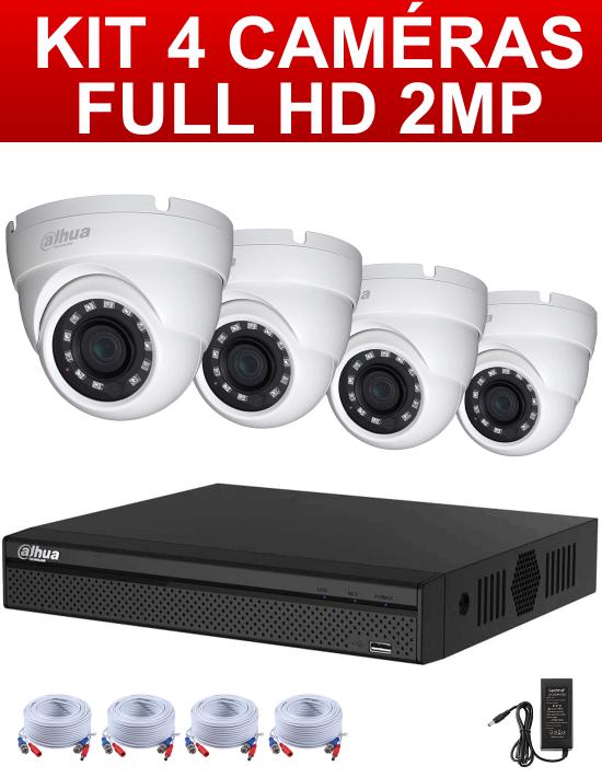 kit prêt à l'emploi 4 caméras Full HD