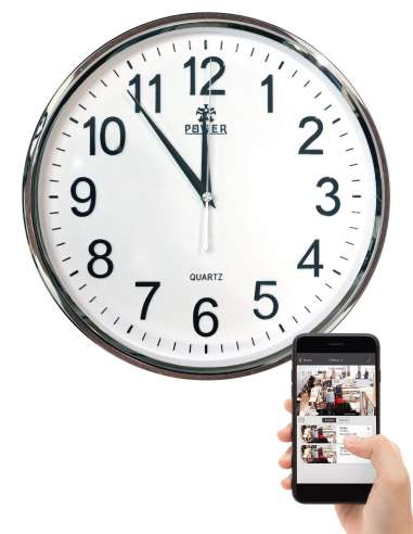 Horloge caméra espion WIFI  vision à...