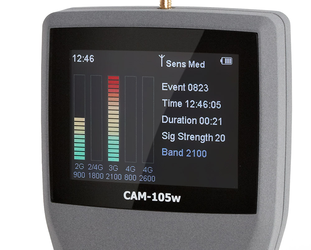 CAM105-Image écran- détecteur de mouchard multi bande- 1